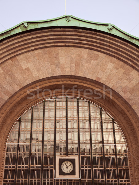 Centraal treinstation Helsinki Finland Stockfoto © benkrut