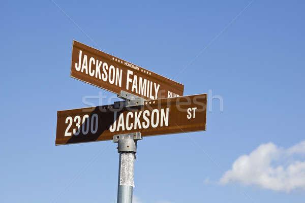 Michael Jackson's intersection Stock photo © benkrut