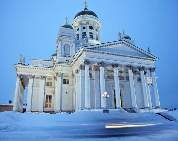 Lutheran Cathedral - winter morning Stock photo © benkrut