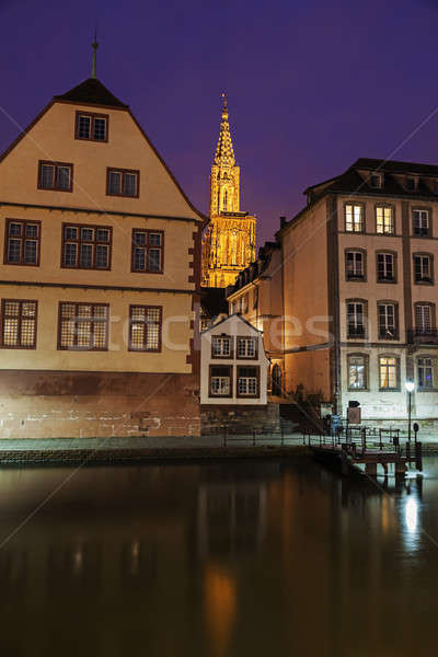 Old Town architecture with Strasbourg Minster  Stock photo © benkrut