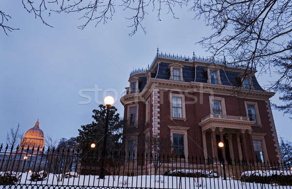 Governor´s Mansion and Missouri State Capitol Building Stock photo © benkrut