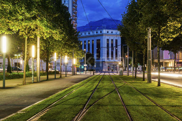 Tram rails in Grenoble   Stock photo © benkrut