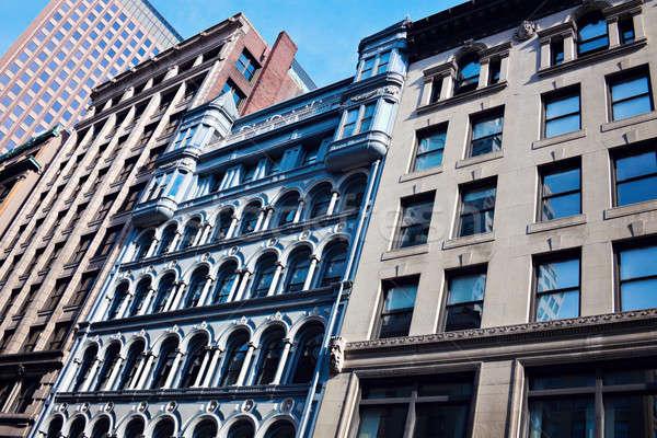 Historic buidlings in the center of Boston Stock photo © benkrut