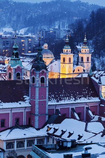 Saint Nicholas Cathedral and Franciscan Church  Stock photo © benkrut
