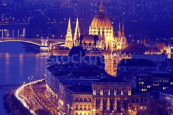 Hungarian Parliament with Danube River  Stock photo © benkrut