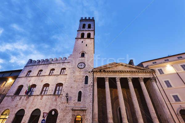 Minerva Temple in Assisi Stock photo © benkrut