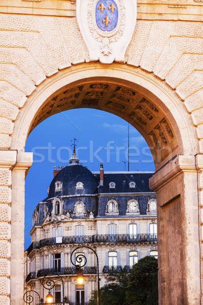Porte du Peyrou in Montpellier Stock photo © benkrut
