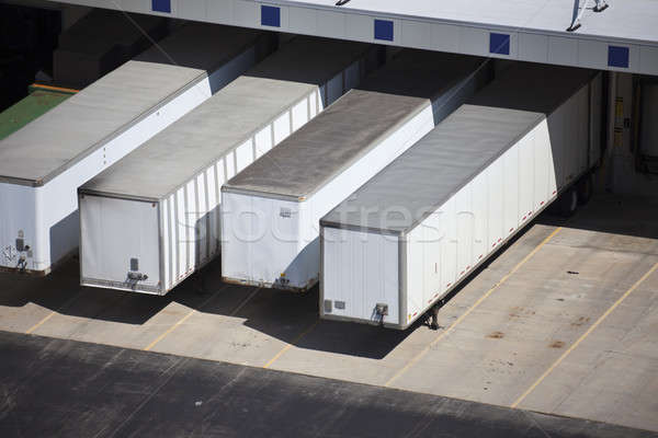 Loading docks and the trailers Stock photo © benkrut