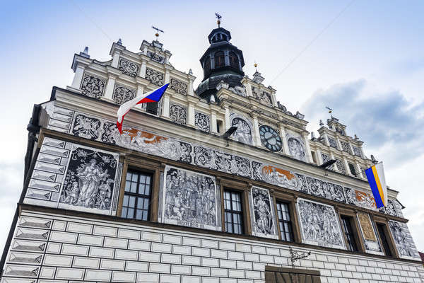 Historic city hall in Stribro  Stock photo © benkrut