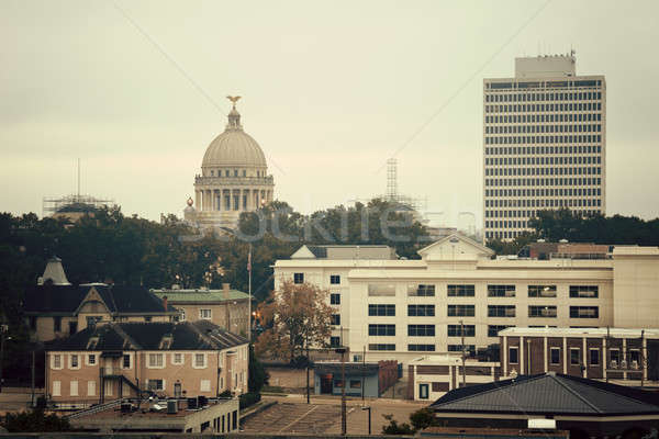 Jackson, Mississippi - vintage panorama Stock photo © benkrut