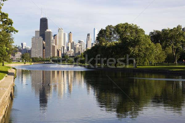 Yaz görmek park şehir merkezinde Chicago Stok fotoğraf © benkrut