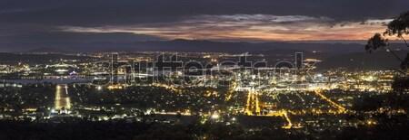 Panorâmico ver Canberra pôr do sol australiano Foto stock © benkrut