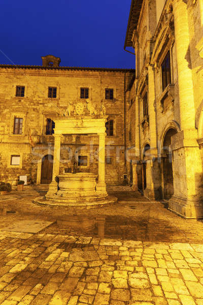 Old well on Piazza Grande in Montepulciano   Stock photo © benkrut