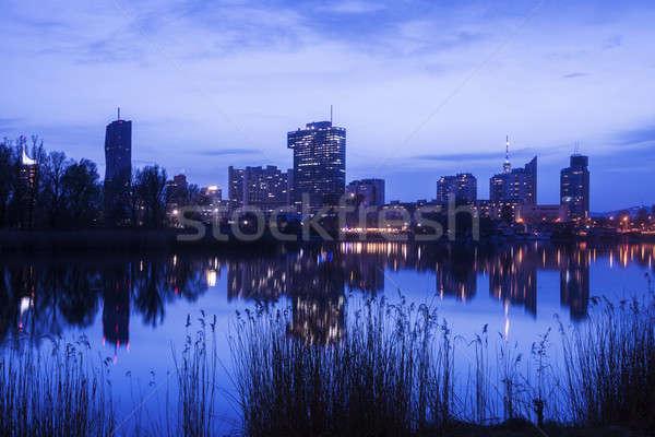Panoramę miasta Wiedeń Austria niebo podróży Zdjęcia stock © benkrut