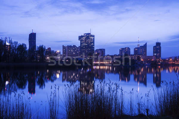 Skyline of Donau City - Vienna DC Stock photo © benkrut