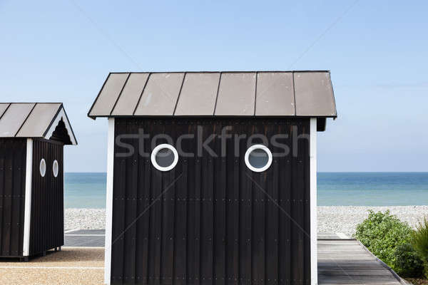 Beach shed in Normandy Stock photo © benkrut