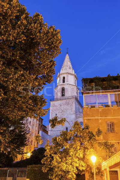 Templom Marseille kék városi sziluett Európa Stock fotó © benkrut