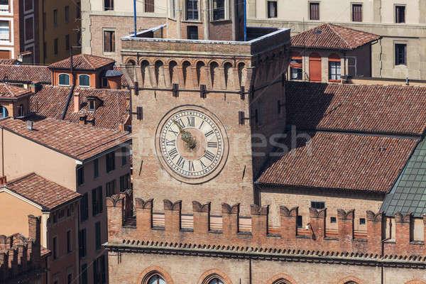 Clock tower in Bologna Stock photo © benkrut