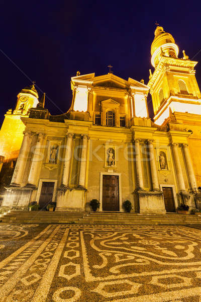 Saint Michel Basilica in Menton Stock photo © benkrut
