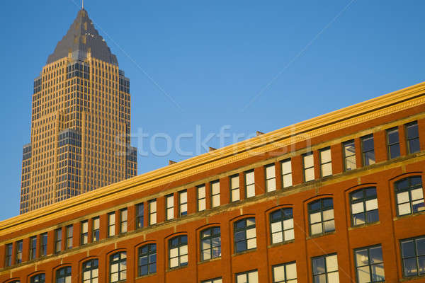Old and new - colorful building in downtown of Cleveland Stock photo © benkrut