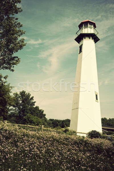 Faro Michigan verano tiempo Foto stock © benkrut