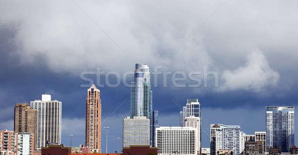 új lakás épületek Chicago dél hurok Stock fotó © benkrut