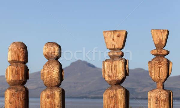 ストックフォト: 4 · 湖 · 山 · 雲 · 屋外 · アルゼンチン