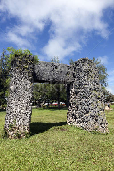 Ha'amonga 'a Maui arch Stock photo © benkrut