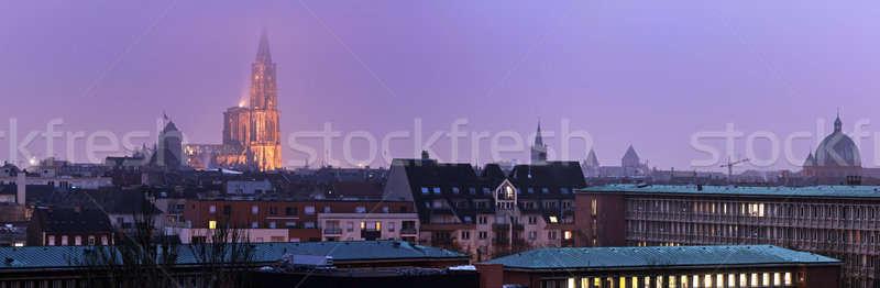 Panorama of Strasbourg  Stock photo © benkrut