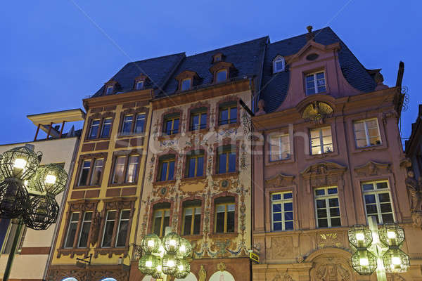 Architecture of Marketplace in Mainz  Stock photo © benkrut