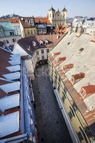 Old Town and Trinity Church in Bratislava Stock photo © benkrut