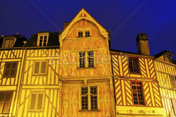 Arhitectura veche cer casă oraş albastru călători Imagine de stoc © benkrut