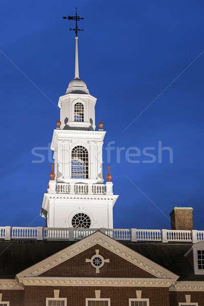 Delaware edifício EUA árvore azul poder Foto stock © benkrut