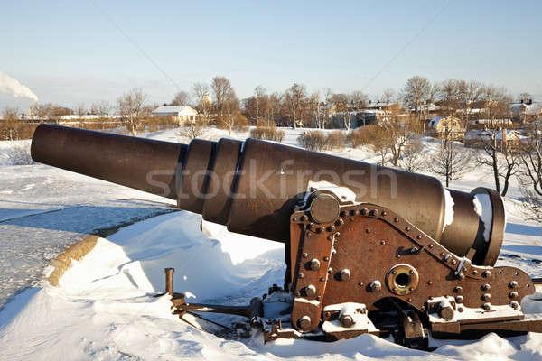 Cannon protecting Suomenlinna Sea Fortress Stock photo © benkrut