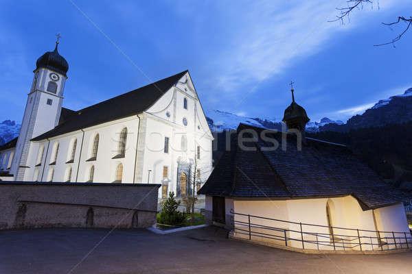 аббатство небе Церкви синий путешествия собора Сток-фото © benkrut