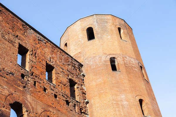 Porta Palatina - Palatine Towers in Turin Stock photo © benkrut