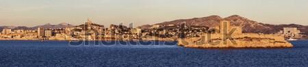 Marsella panorama archipiélago amanecer agua mar Foto stock © benkrut