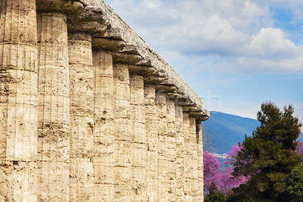 Ruínas Itália igreja viajar linha do horizonte grego Foto stock © benkrut