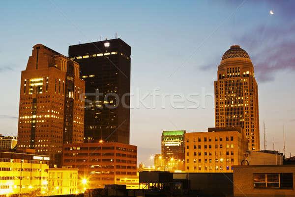 De manhã cedo Kentucky EUA escritório relógio Foto stock © benkrut
