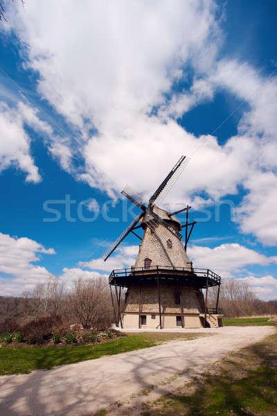 Illinois USA mulino a vento primavera viaggio Foto d'archivio © benkrut