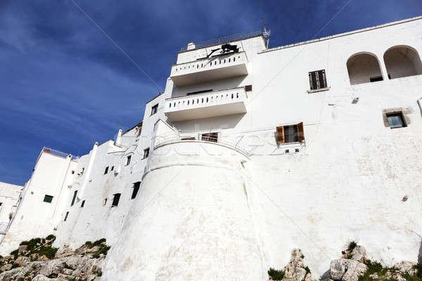 стен старый город белый город дома синий Сток-фото © benkrut