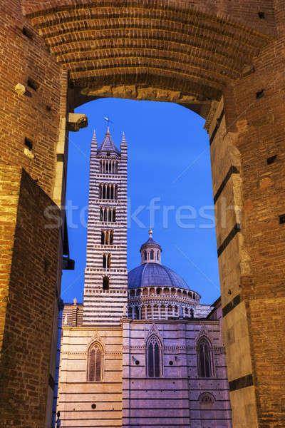 Cathédrale Toscane Italie ville Voyage sunrise Photo stock © benkrut