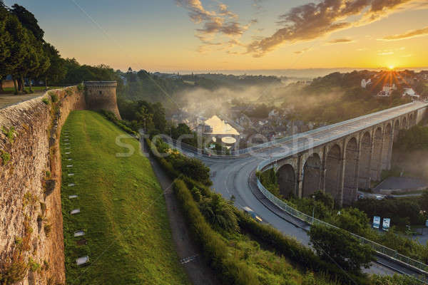 Sunrise in Dinan Stock photo © benkrut