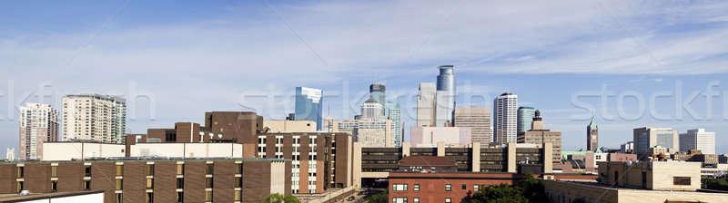 Panoráma Minnesota reggel idő épület Stock fotó © benkrut