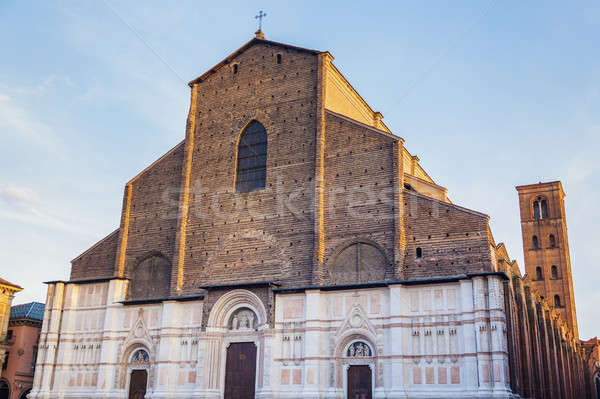 Bologna Cathedral on Piazza Maggiore in Bologna Stock photo © benkrut