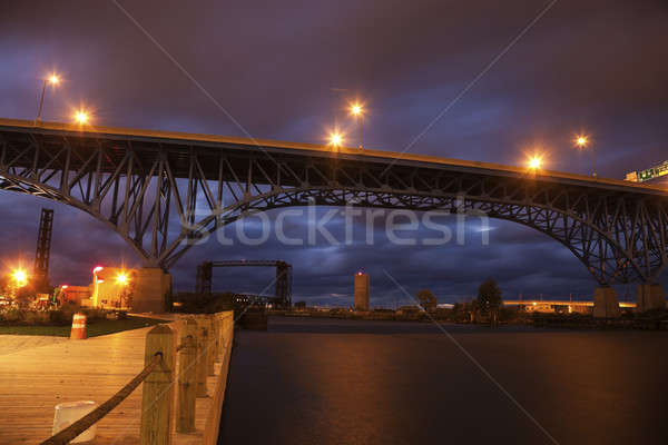 Bridges of Cleveland Stock photo © benkrut