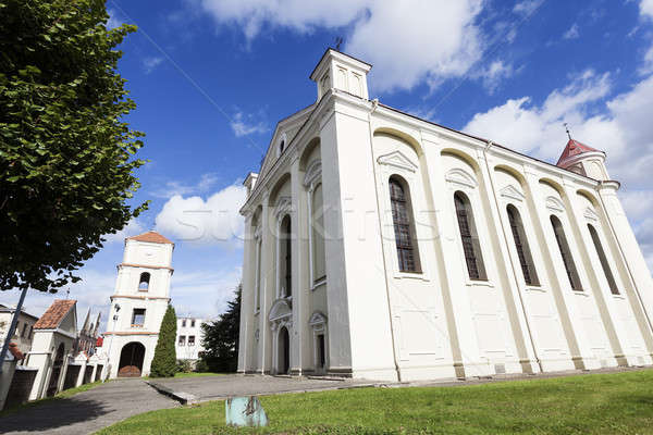 Evangelical church in Kėdainiai Stock photo © benkrut