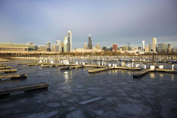 Winter morning in Chicago Stock photo © benkrut