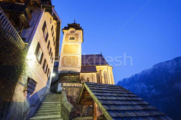 The Parish Church in Hallstatt Stock photo © benkrut