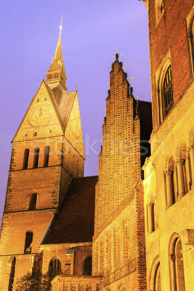 Marktkirche and Old Town Hall in Hanover Stock photo © benkrut